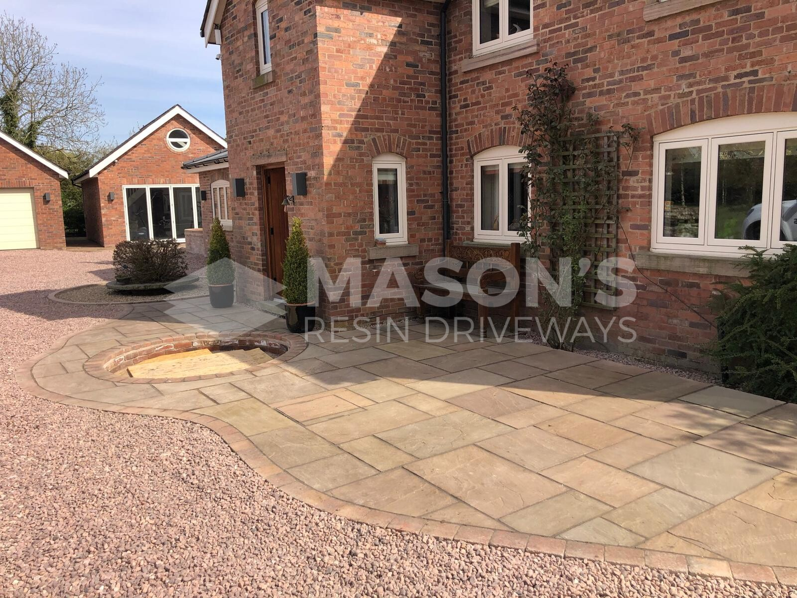 aggregate driveway and indian stone