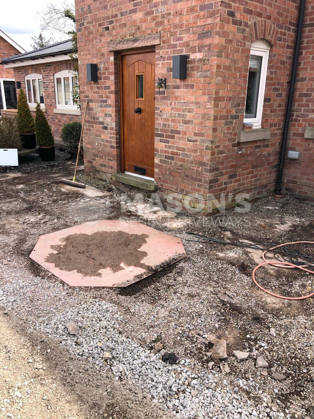 process of installing driveway