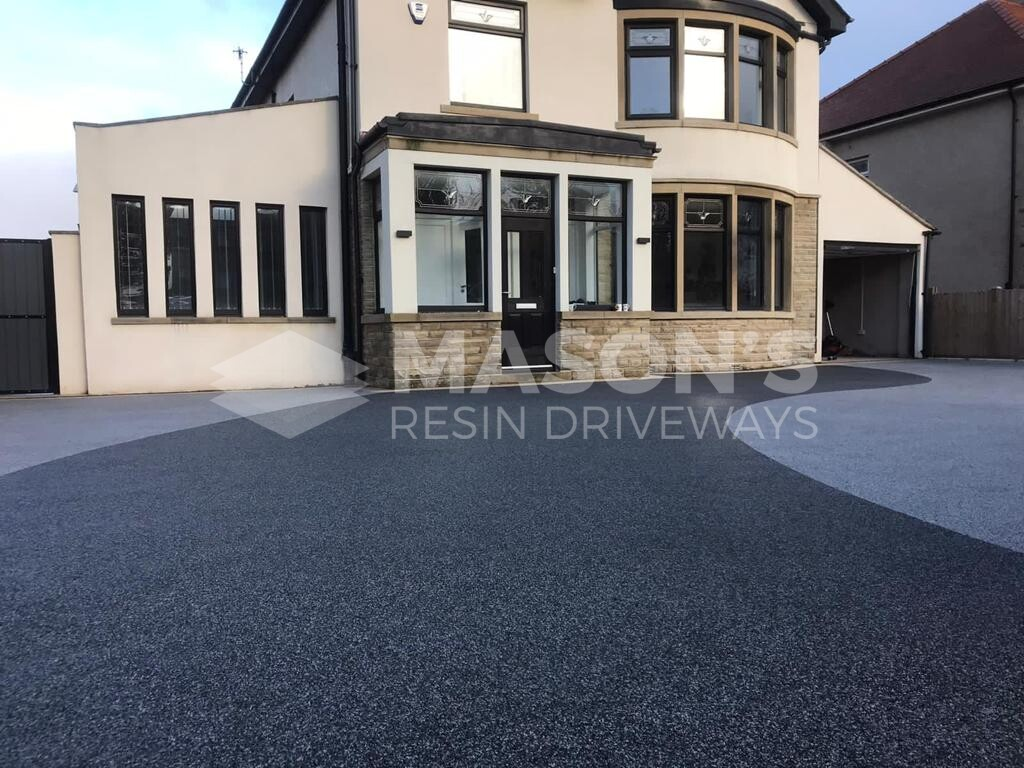 resin bound driveway installation in Morecambe