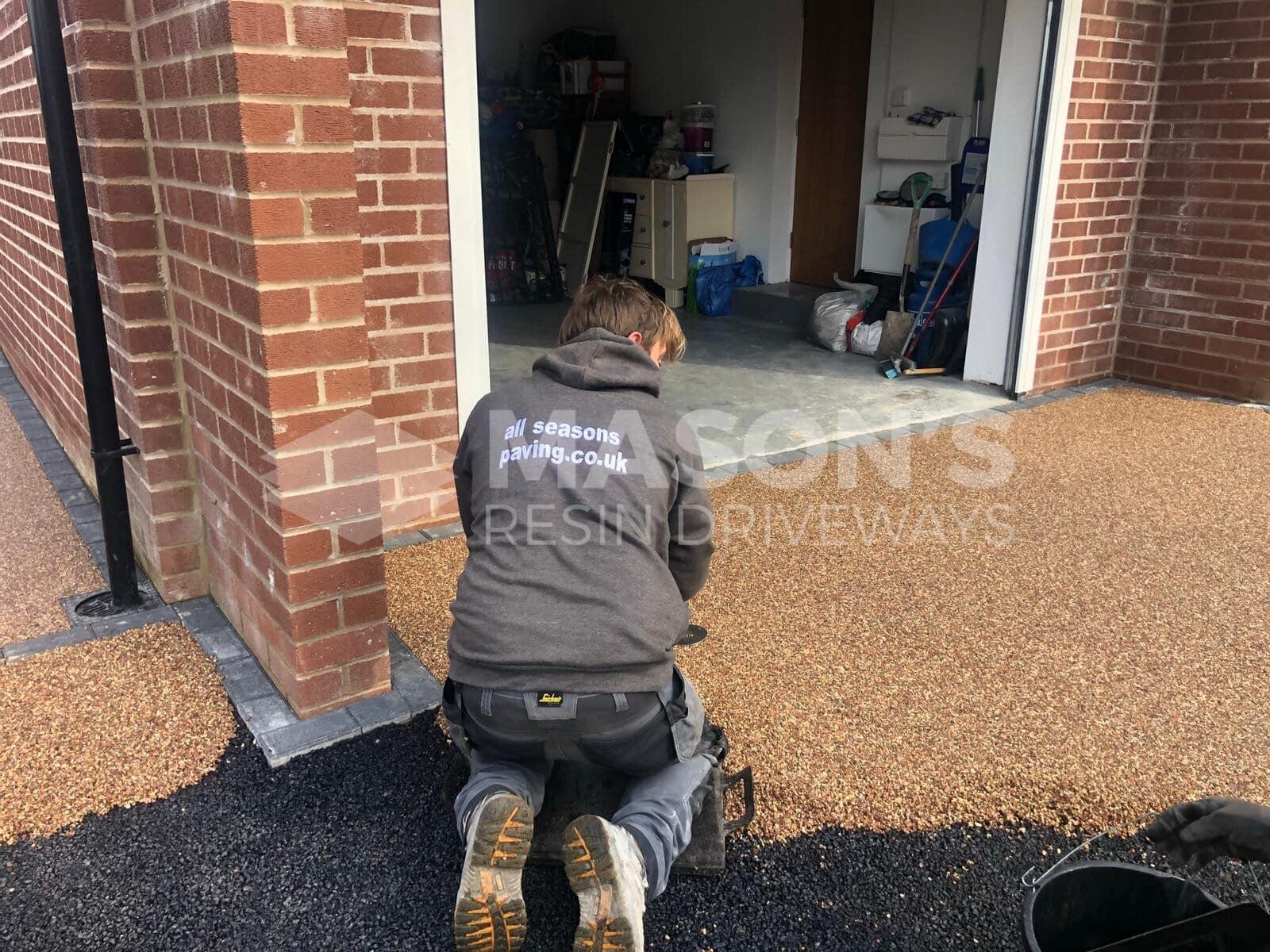 Installing rose resin bound driveway