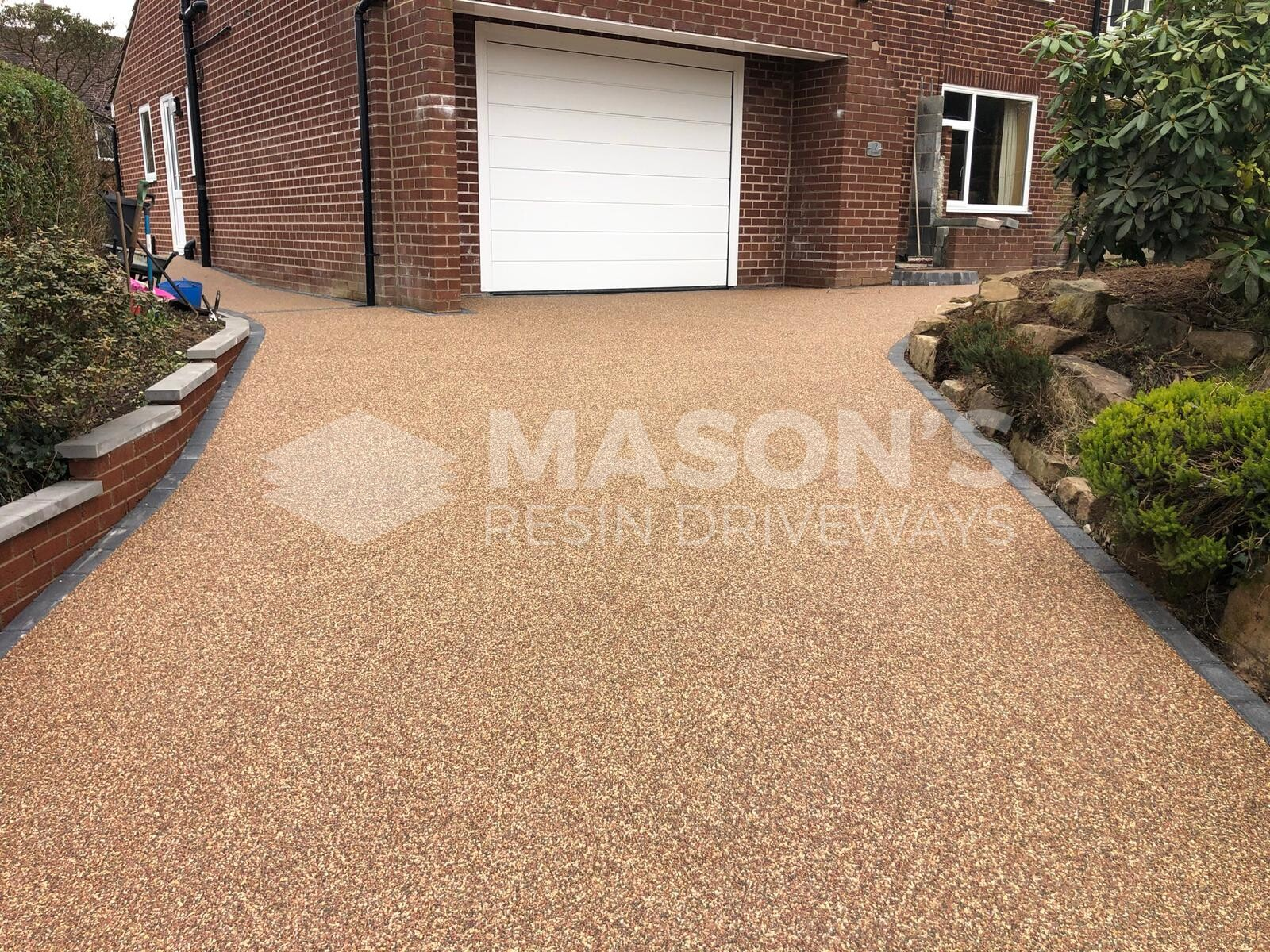 Rose resin bound driveway completed in Lancashire
