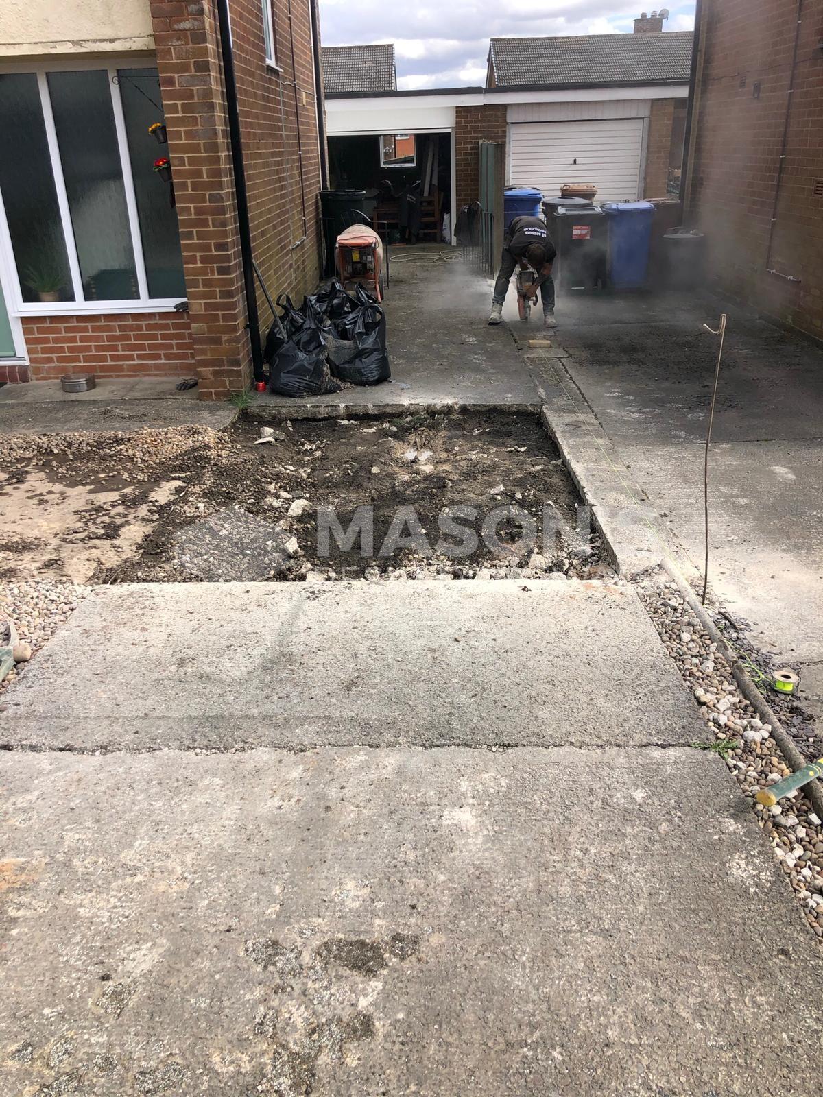 slate grey resin driveway process